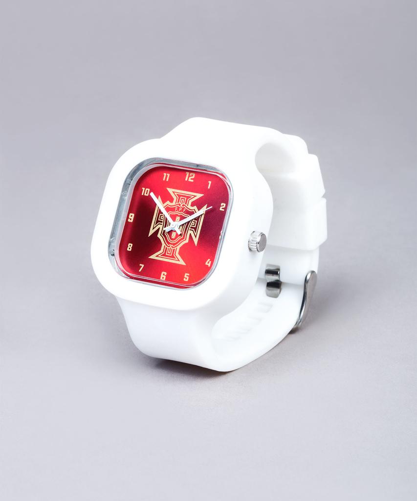 472a9d49007 Relógio FPF Vermelho Mini c bracelete branca